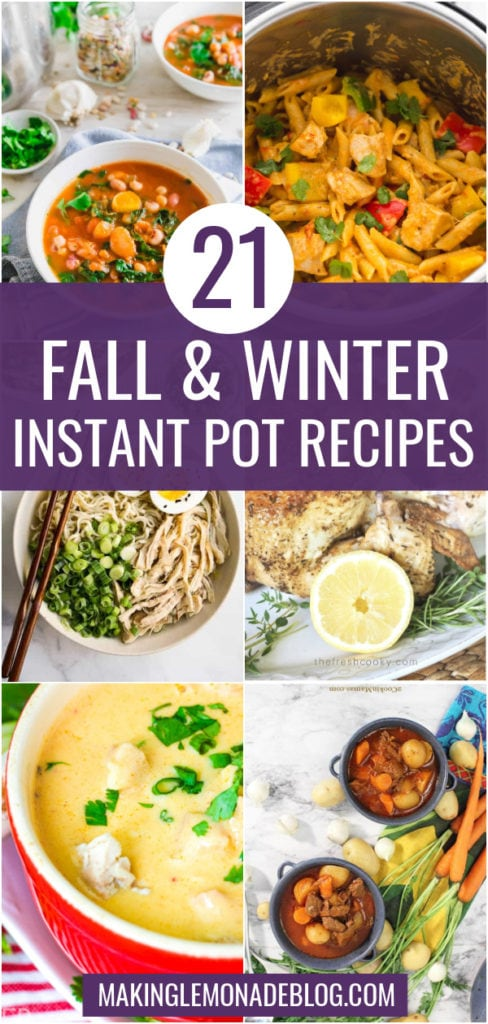 collage of instant pot recipes