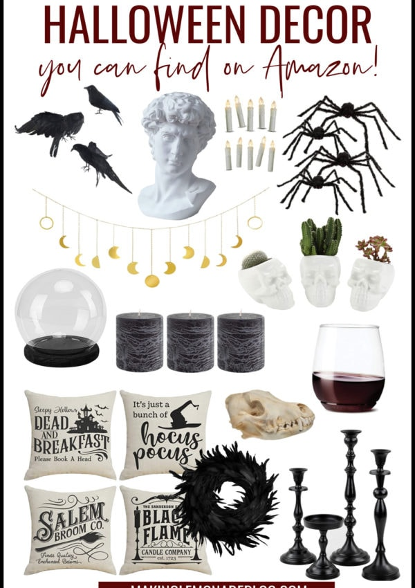 25 Best Halloween Decorations on Amazon {Stylish + Spooky!}