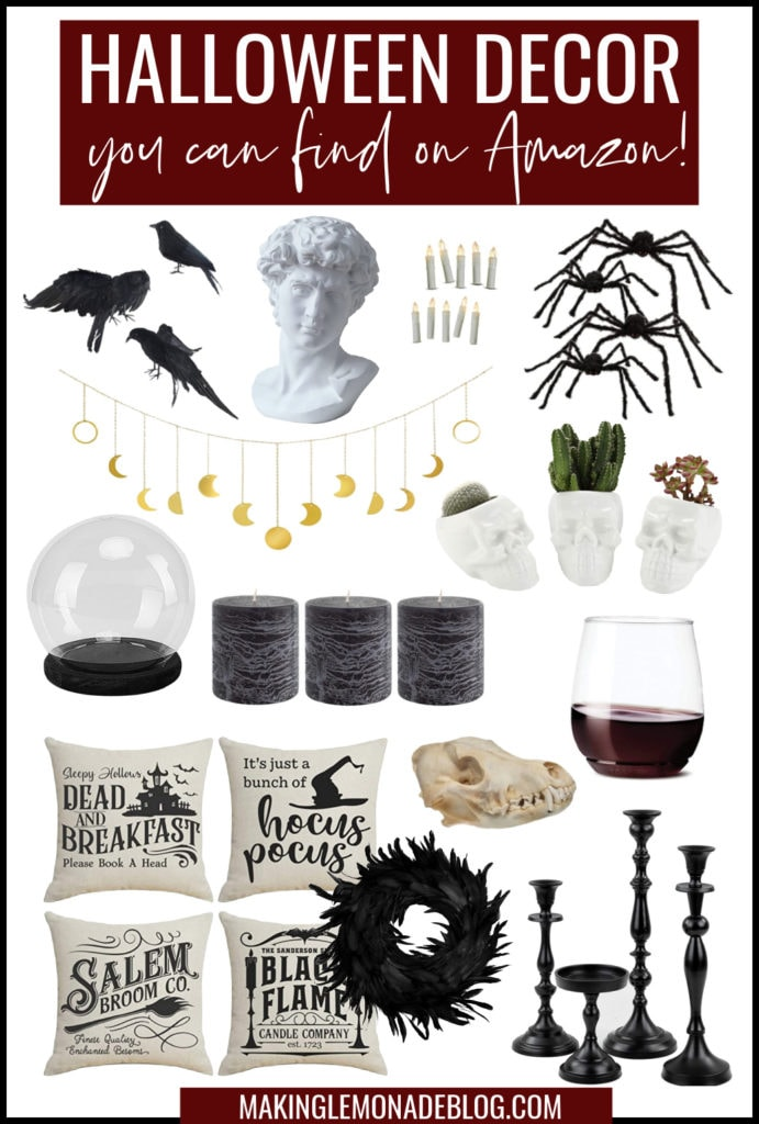 Halloween decor from Amazon collage