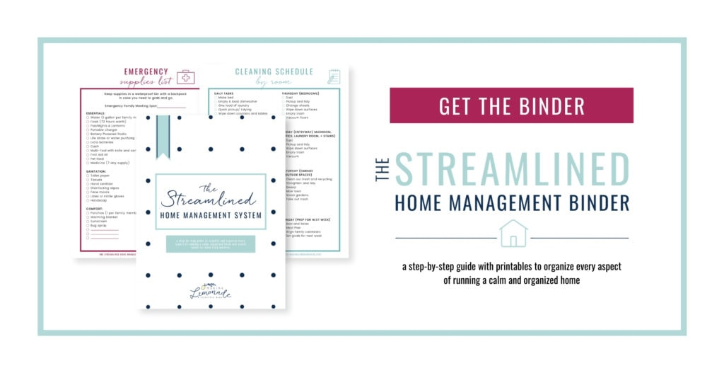 streamlined home binder with buy it button
