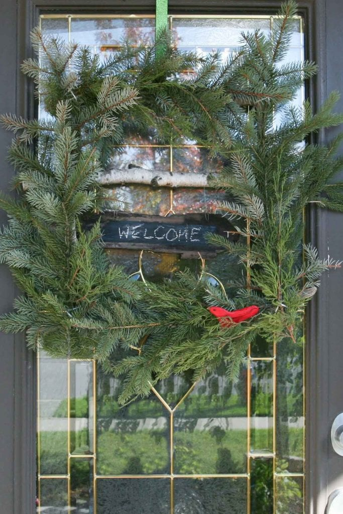 square evergreen wreath