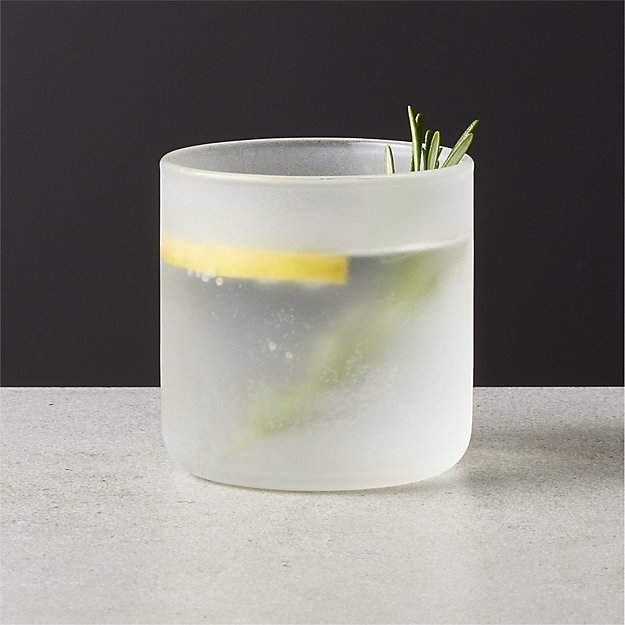 frosted drink glass