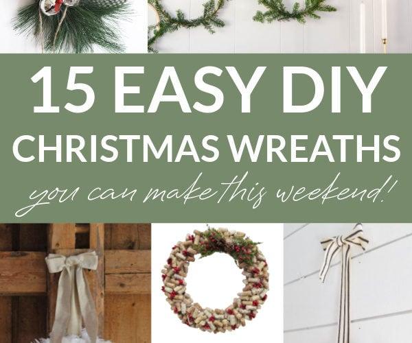 DIY wreath collage