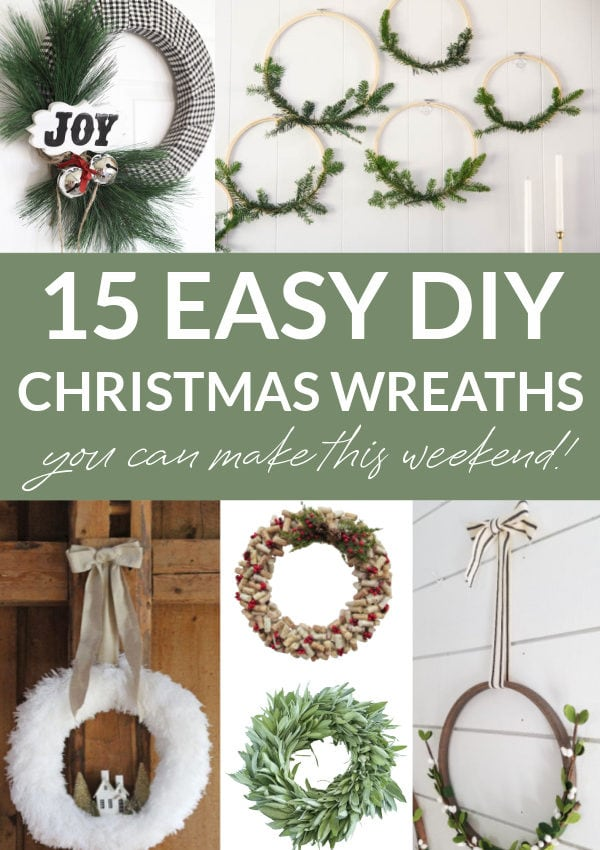 DIY wreath collage