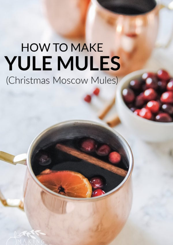 Yule Mule (Christmas Moscow Mule Cocktail Recipe)
