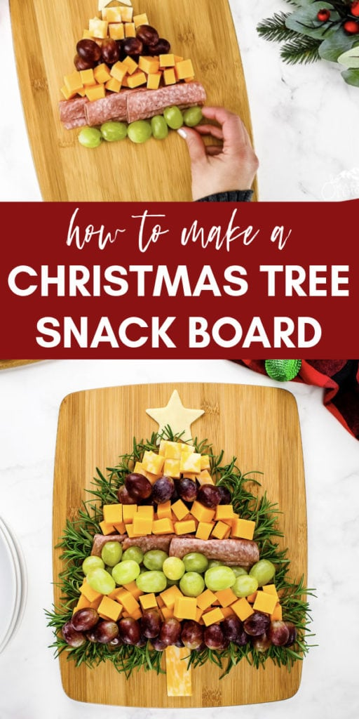 how to make a christmas tree snack board collage
