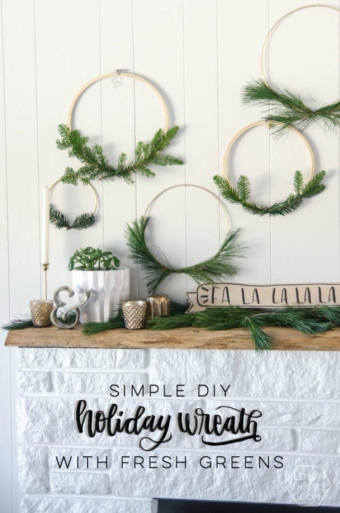 DIY embroidery hoop wreaths