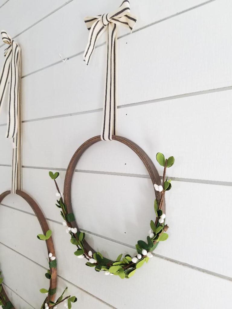 simple hoop wreath