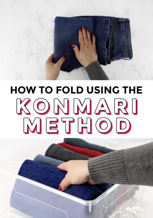 how to fold using the KonMari Method
