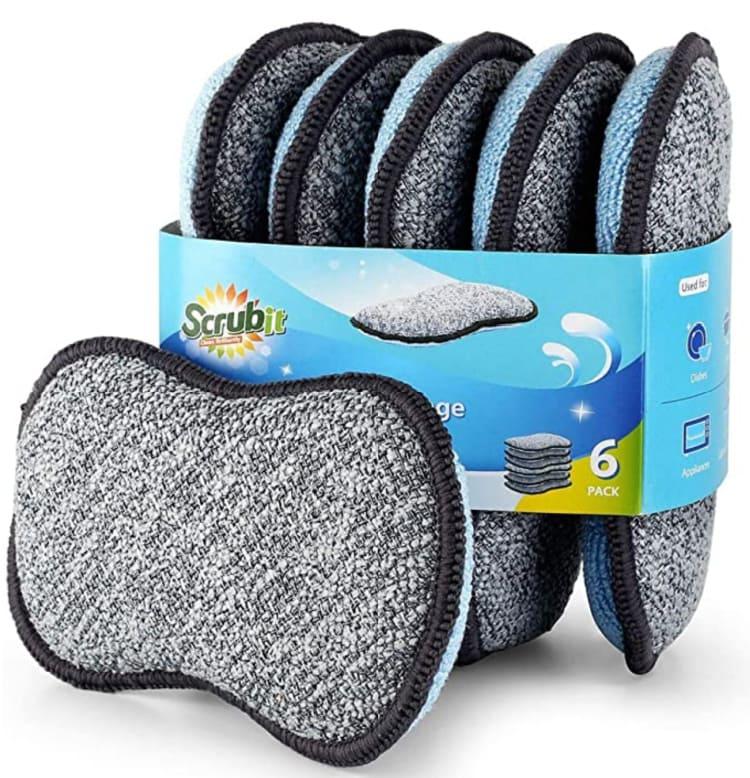 microfiber scrubbing sponges