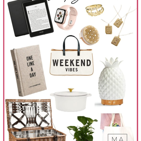 collage of gift ideas for women