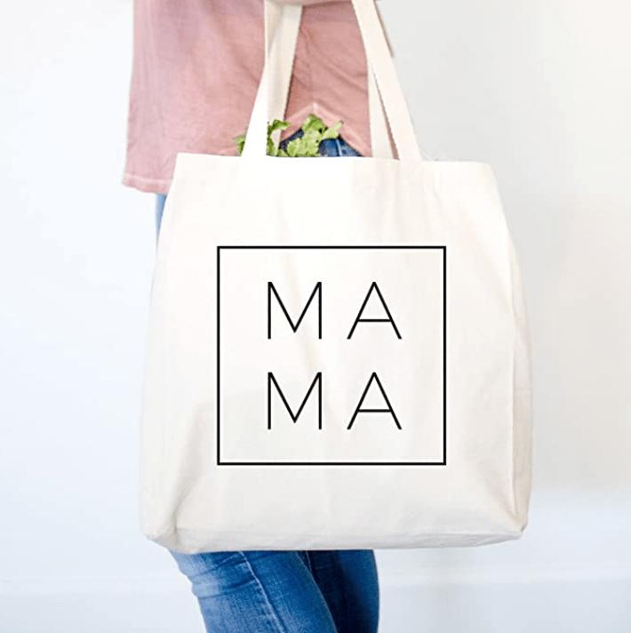 tote bag that says MAMA
