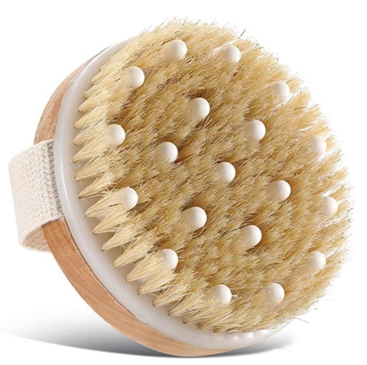 massaging dry brush