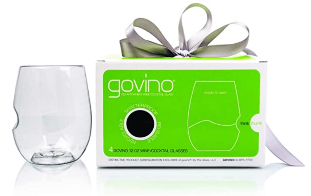 GoVino shatterless wine glasses with box