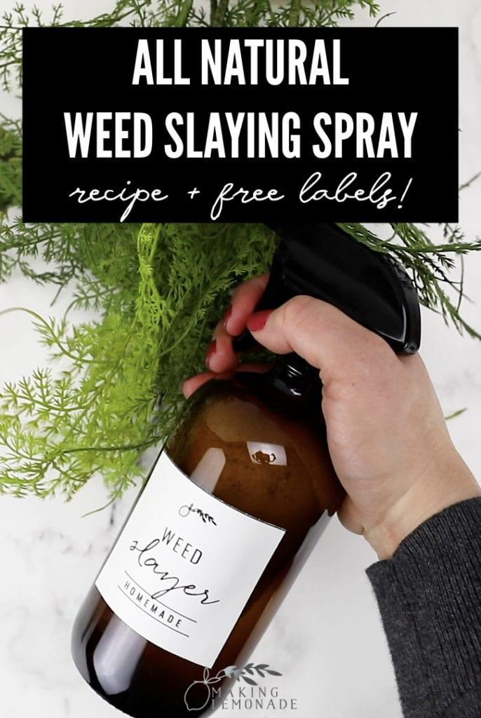 weed killing spray pin