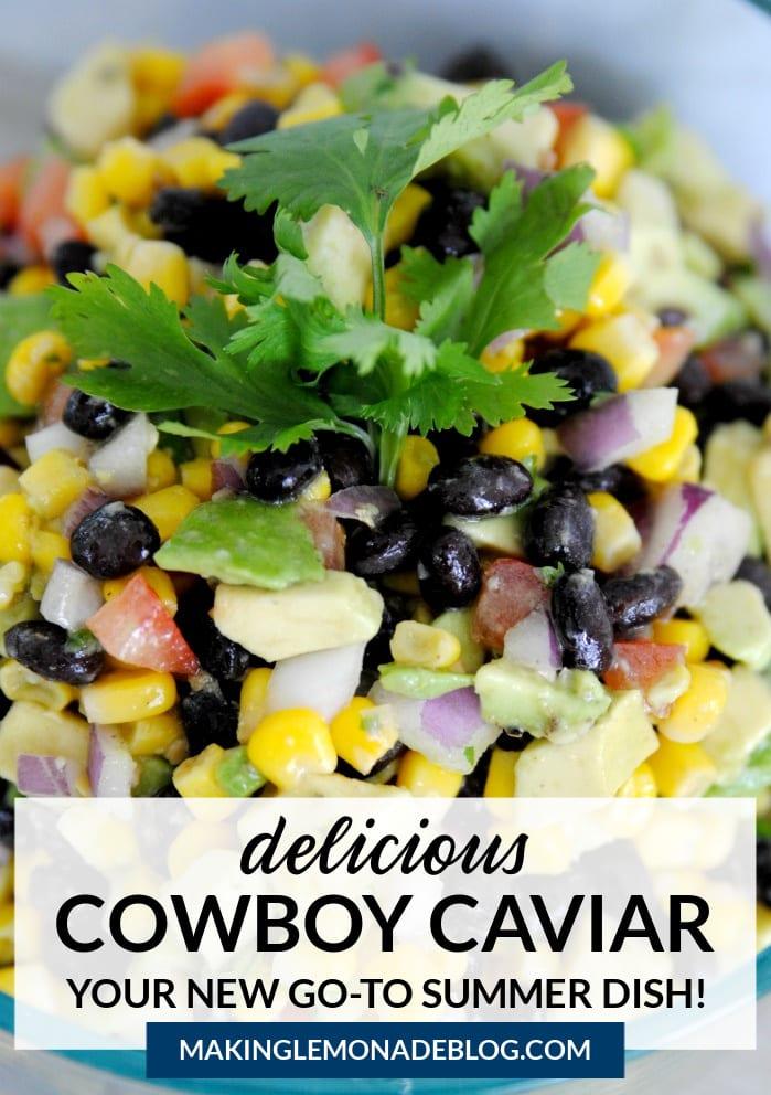 cowboy caviar dip in bowl
