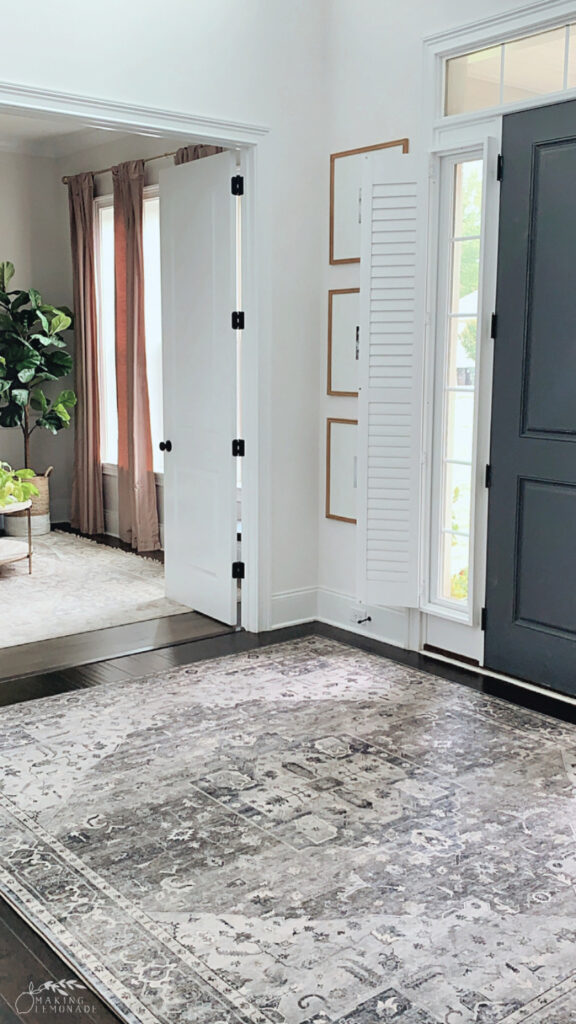 entryway with rug