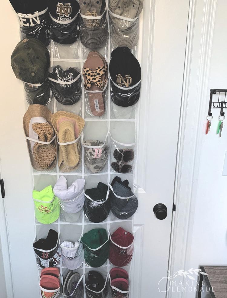 shoe pockets on back of door