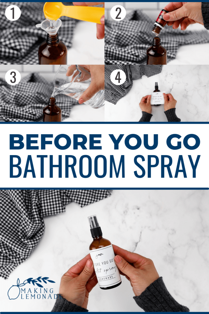 how to make DIY bathroom toilet spray