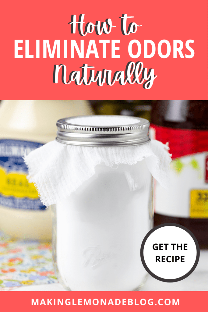 how to elimate odors naturally pin