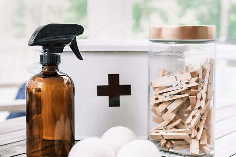 ingredients for DIY cleaning recipes