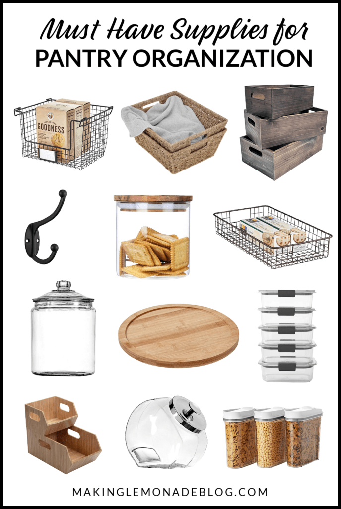 collage of pantry organization ideas