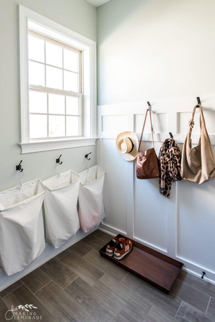 laundry room and mudroom storage hooks
