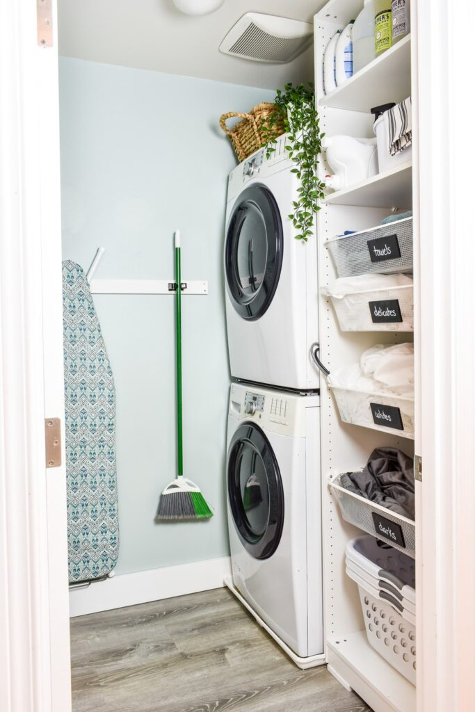 pull out shelves in laundry room