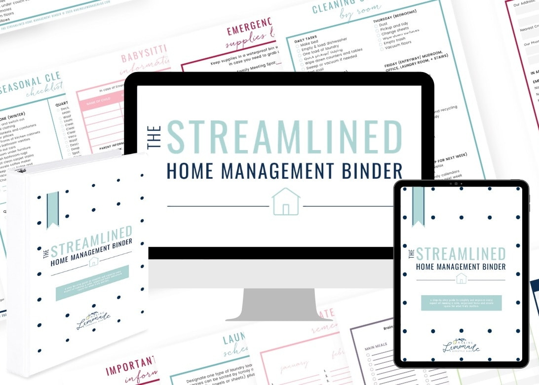 printable binder to manage your entire home